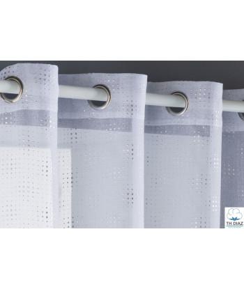 Cortina Visillo Confeccionada FUNDECO Tailor blanco