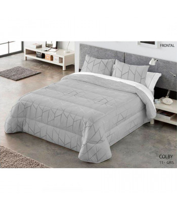 EDREDÓN COMFORTER REVERSIBLE COLY KABELY - Gris