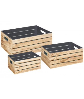 Set 3 Cajas Madera ATMOSPHERA Interior