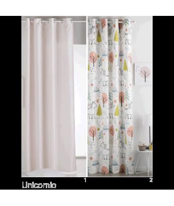 Unicornio - Cortina Ollaos habitación infantil